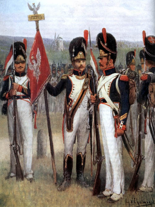 5th Infantry Regiment - Duchy of Warsaw - Jan Chełmiński (1851-1925) - Poland - Chansons de soldats - Soldiers songs and military marches